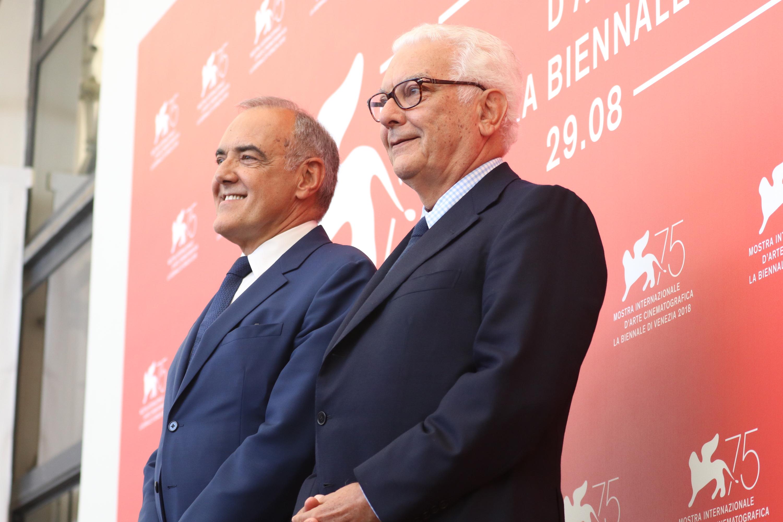 Venezia 2018: Alberto Barbera e Paolo Baratta al photocall delle giurie