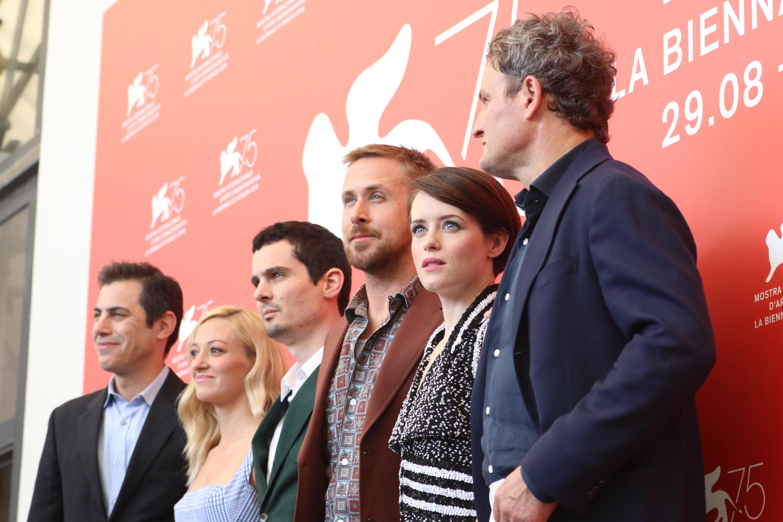 Venezia 2018: il cast al photocall de Il primo uomo