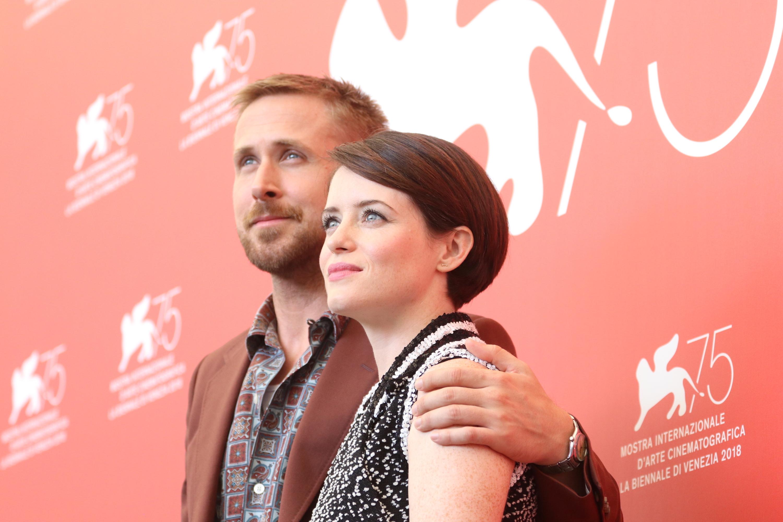 Venezia 2018: Ryan Gosling e Claire Foy. al photocall de Il primo uomo