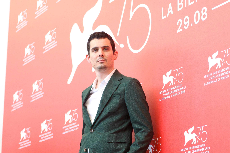 Venezia 2018: il regista Damien Chazelle al photocall de Il primo uomo