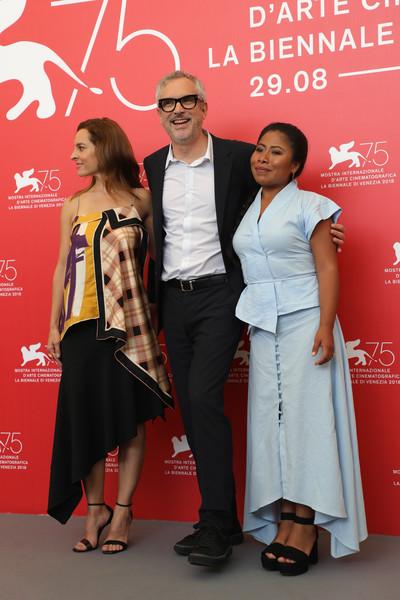 Venezia 2018: Alfonso Cuaron e il cast durante il photocall del film Roma