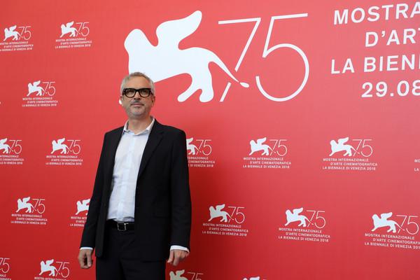 Venezia 2018: il regista Alfonso Cuaron durante il photocall del film Roma