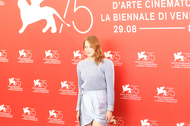 Venezia 2018: una foto di Emma Stone al photocall de La favorita