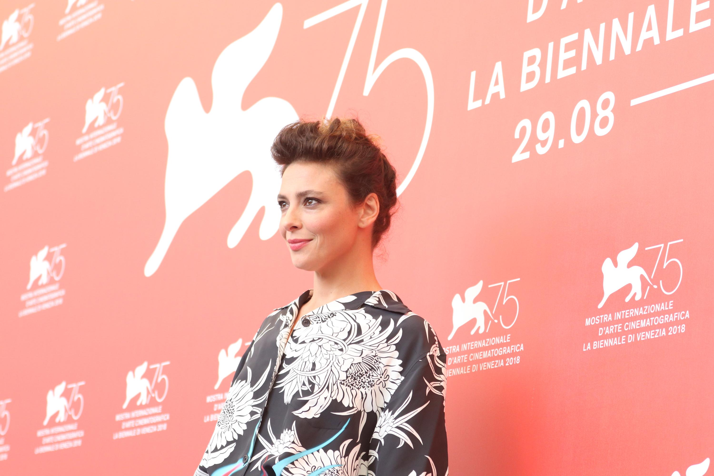 Venezia 2018: l'attrice Jasmine Trinca al photocall di Sulla mia pelle
