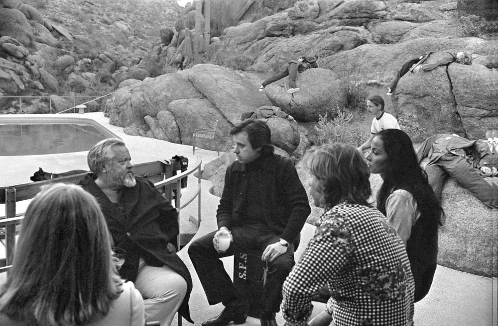 L'altra faccia del vento: un'immagine dal set del film