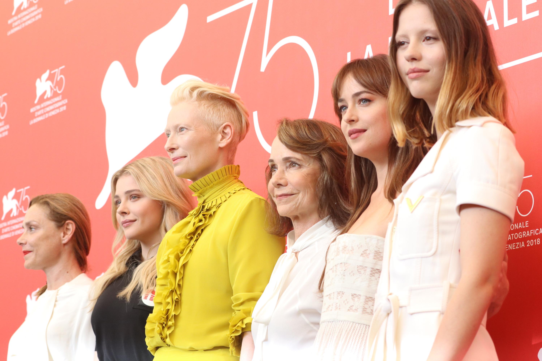 Venezia 2018: il cast femminile al photocall di Suspiria