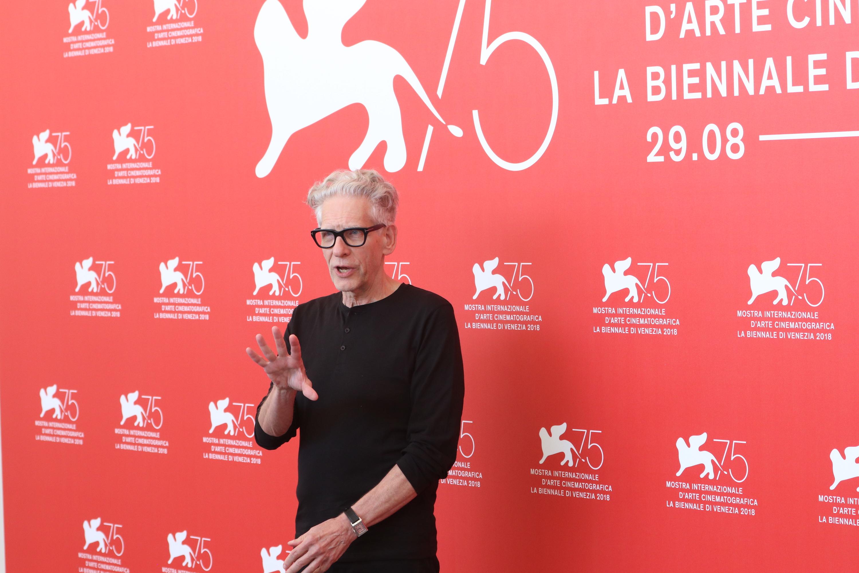 Venezia 2018: una foto del regista David Cronenberg Leone d'oro alla carriera