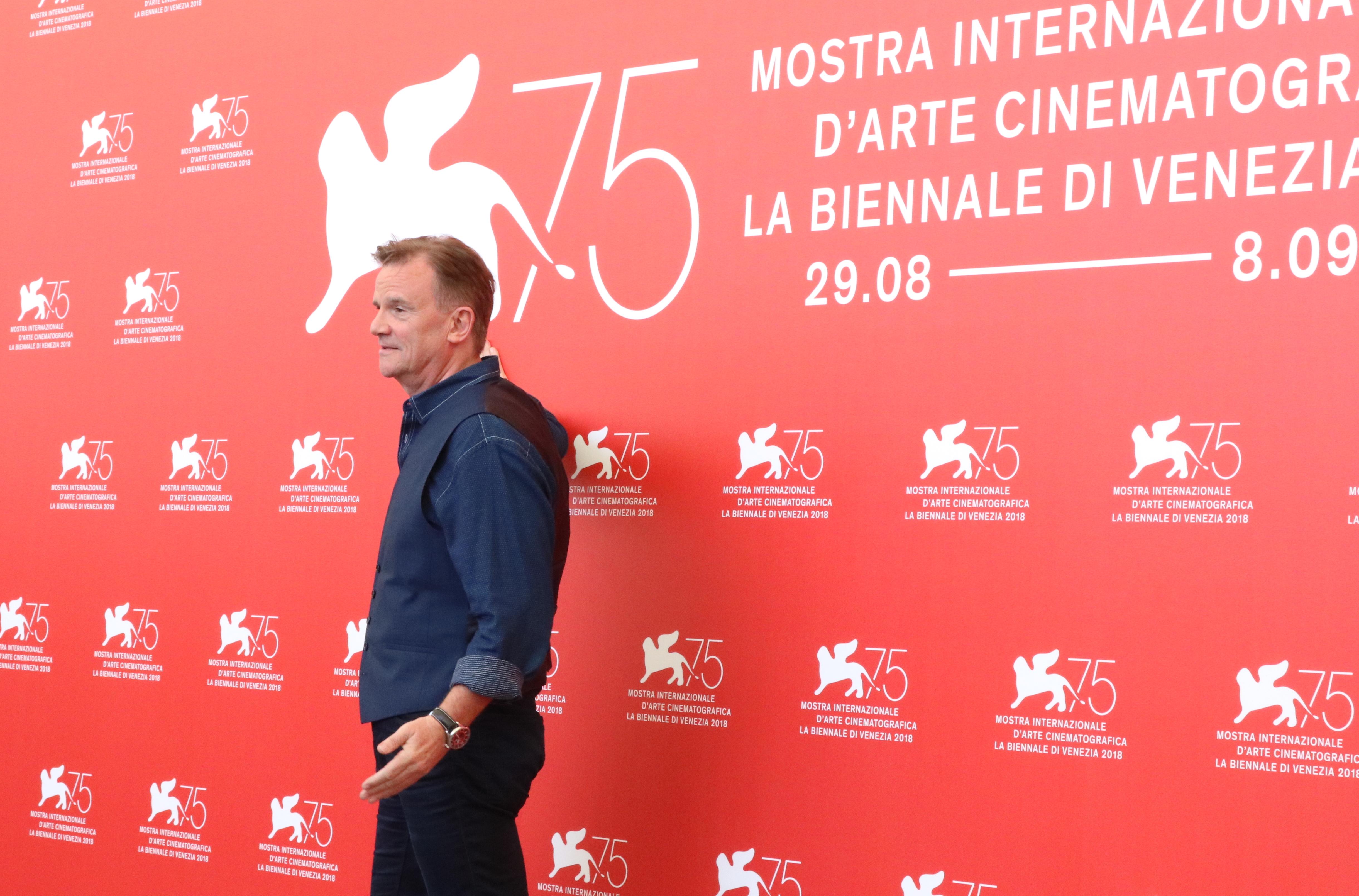 Venezia 2018: Nick Hamm al photocall di Driven