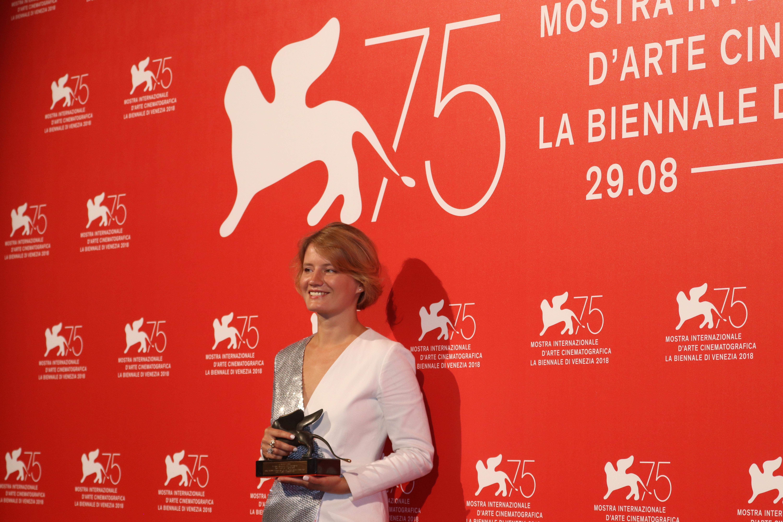 Venezia 2018: Natalya Kudryashova al photocall dei premiati