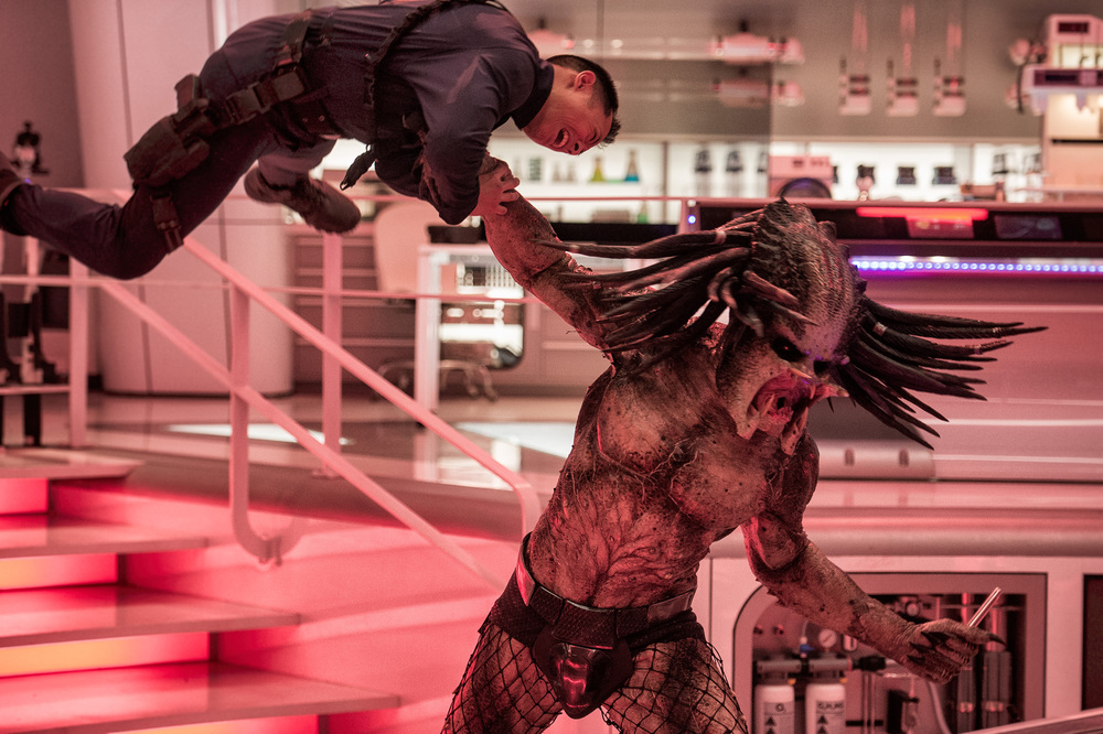 The Predator: una scena del film