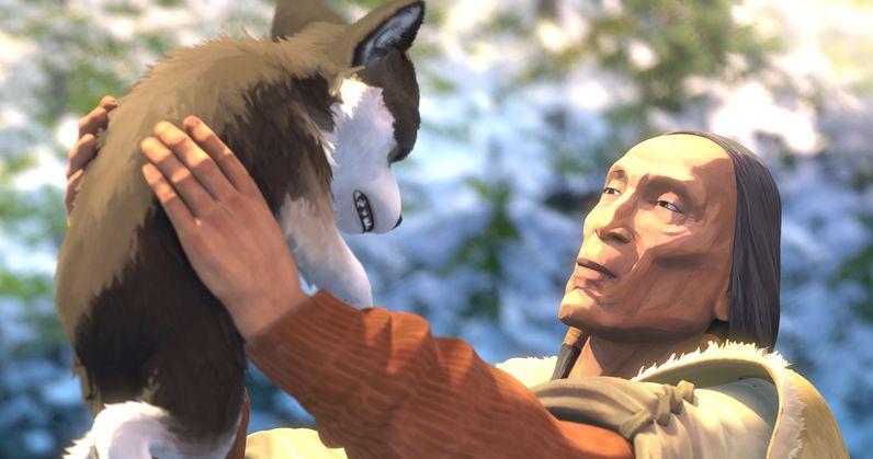 Zanna Bianca: un'immagine del film d'animazione