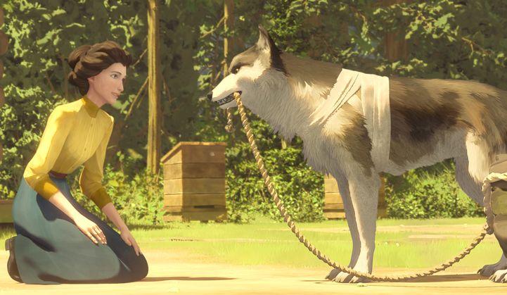 Zanna Bianca: una scena del film d'animazione
