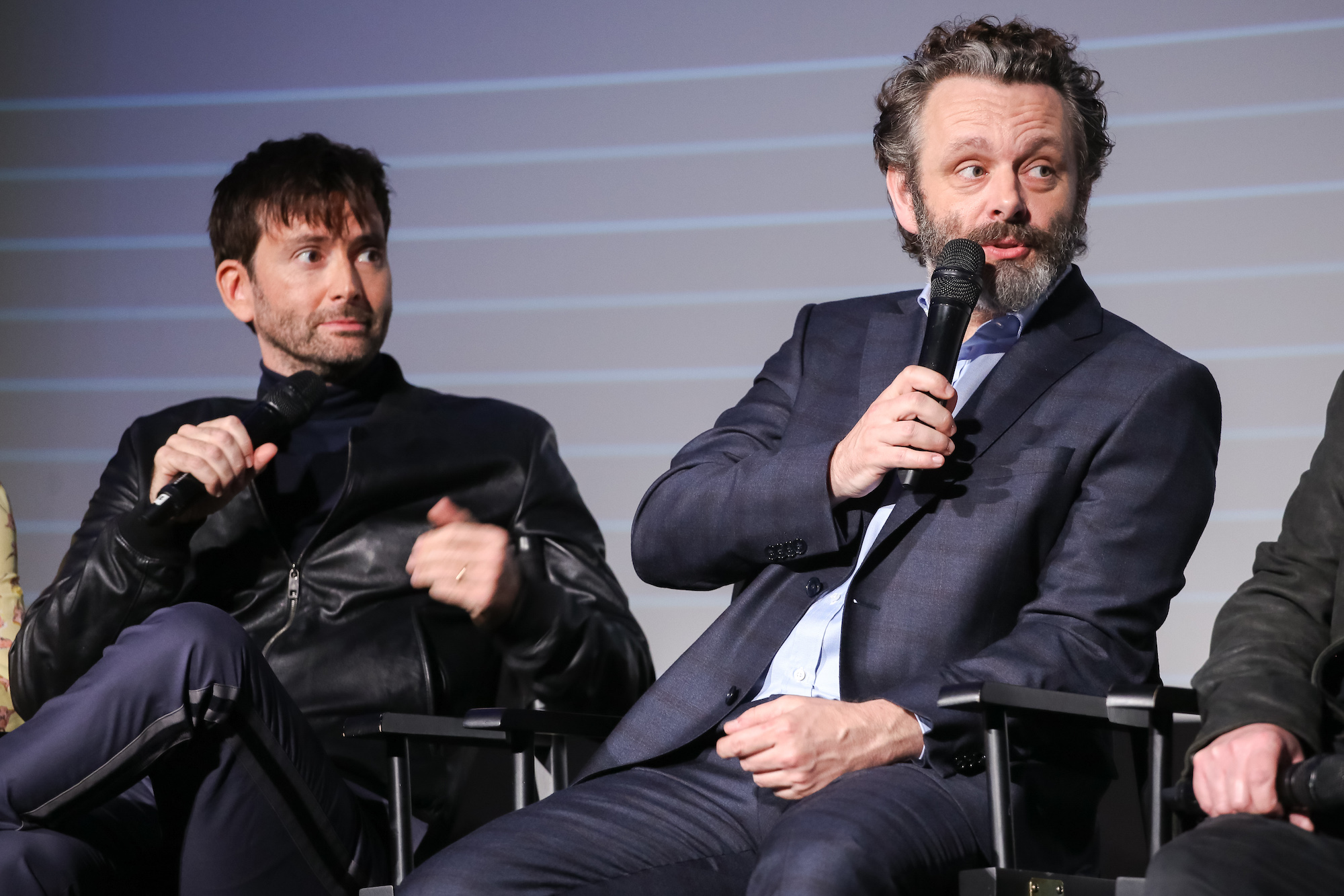 Good Omens: David Tennant e Michael Sheen a Londra