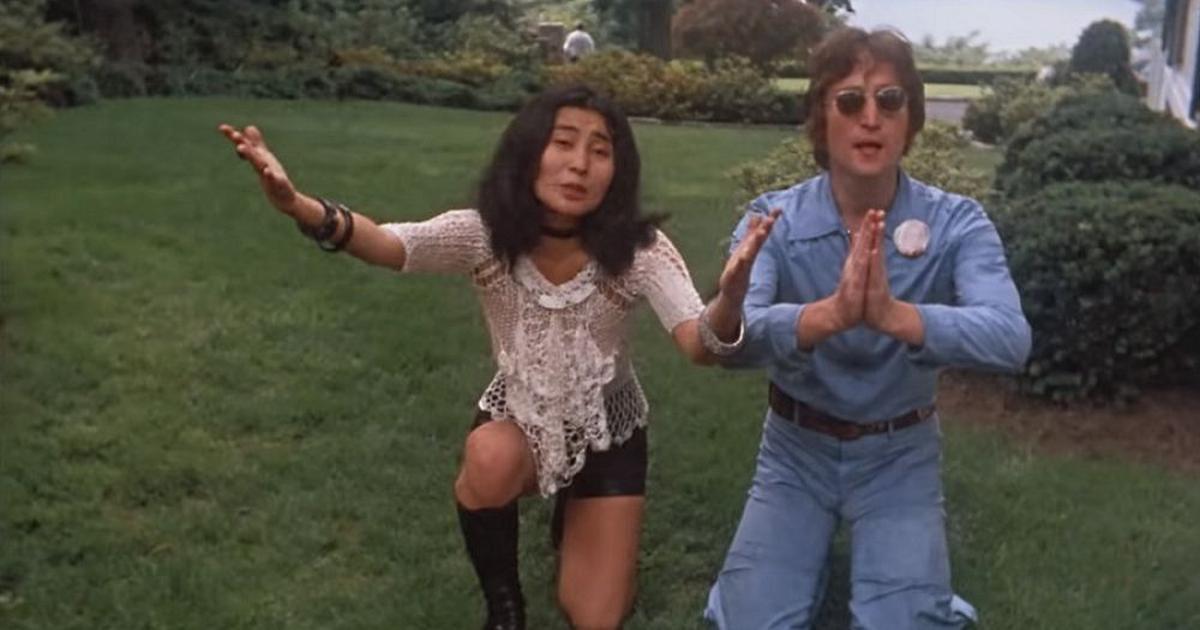 Imagine: Yoko Ono e John Lennon in un'immagine del film