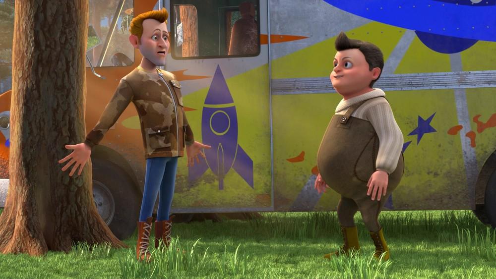 Baffo & Biscotto - Missione Spaziale: una scena del film d'animazione