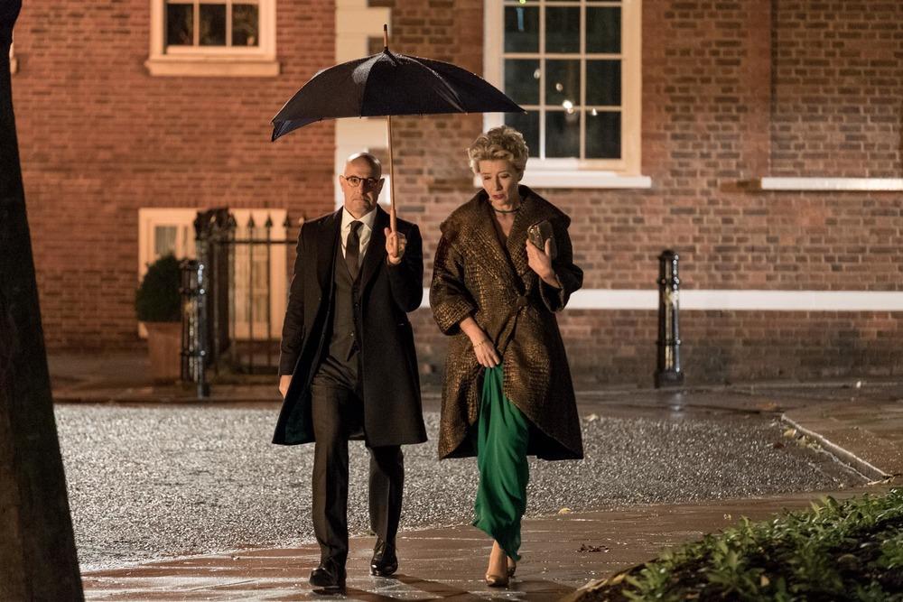Il verdetto: Stanley Tucci ed Emma Thompson in una scena del film