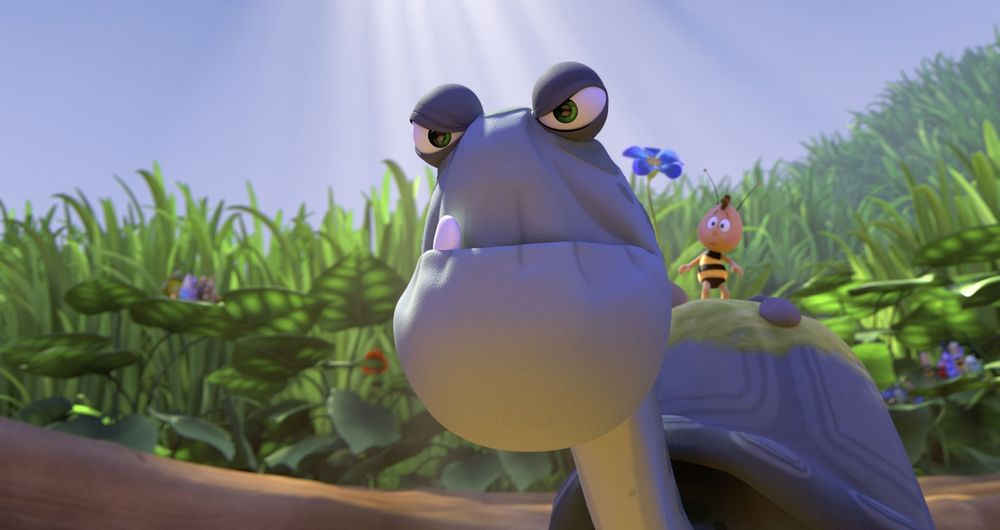 L'Ape Maia - Le Olimpiadi di miele: una scena del film d'animazione