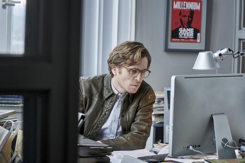Millennium - Quello che non uccide: Sverrir Gudnason in una scena del film