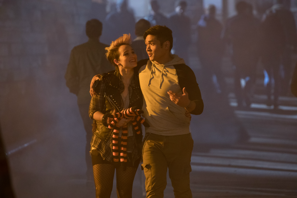 Hell Fest: Matt Mercurio e Bex Taylor-Klaus in una scena del film