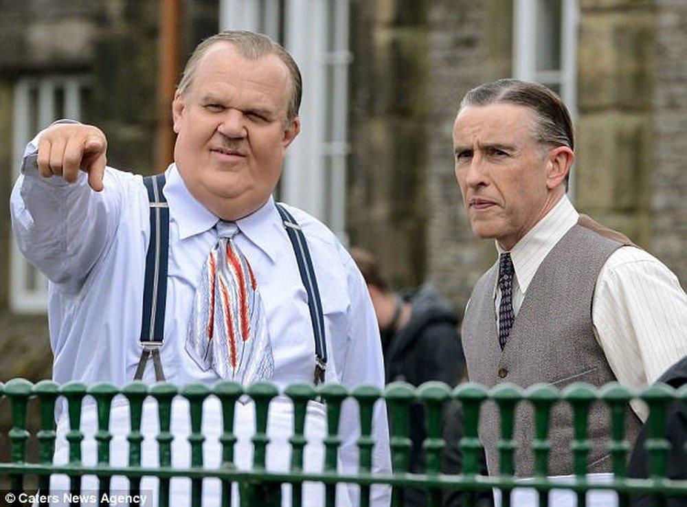 Stanlio e Ollio: Steve Coogan e John C. Reilly sul set