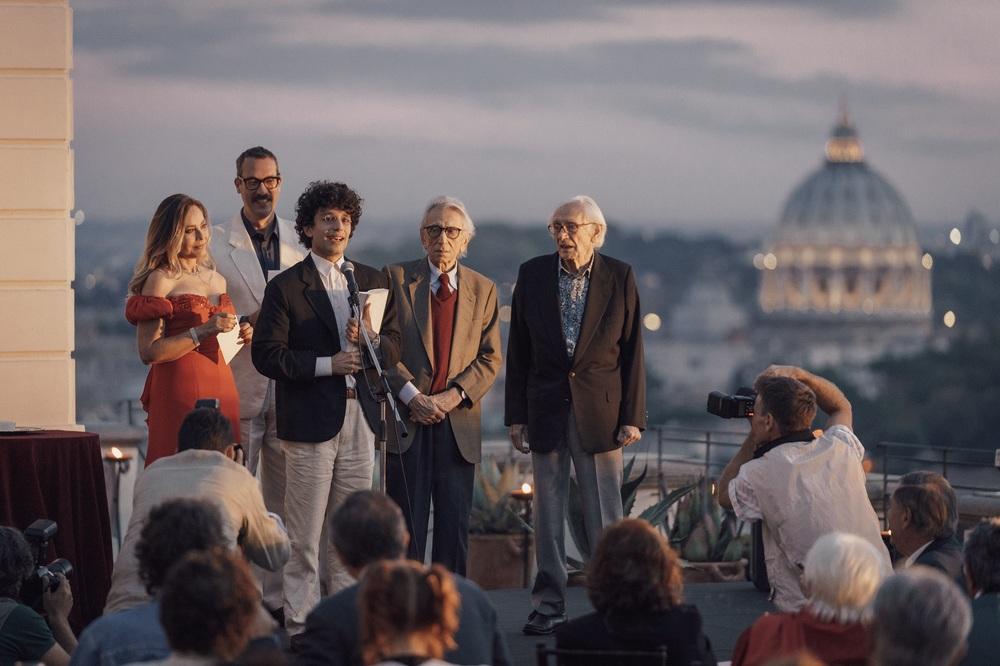 Notti magiche: Ornella Muti, Mauro Lamantia e Roberto Herlitzka in una scena del film