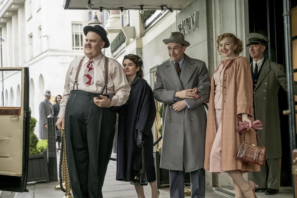 Stanlio e Ollio: Steve Coogan, John C. Reilly, Shirley Henderson e Nina Arianda in una scena del film