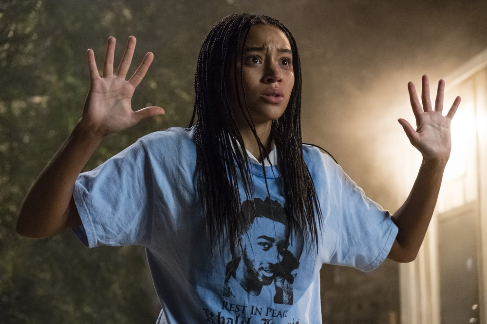 The Hate U Give: Amandla Stenberg in una scena del film