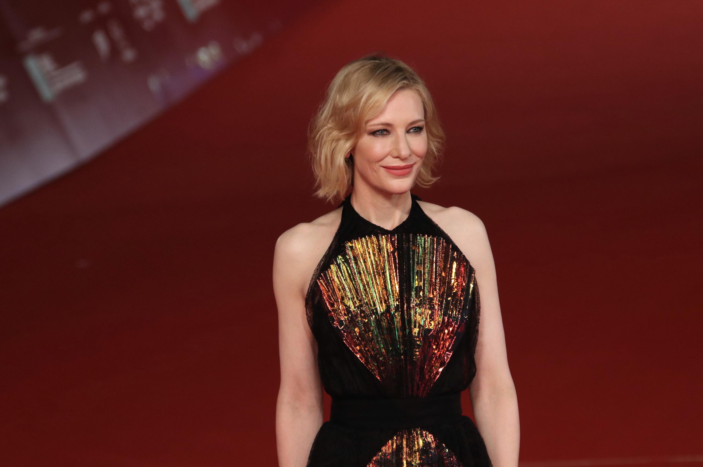 Roma 2018: uno scatto di Cate Blanchett sul red carpet de Il mistero della casa del tempo