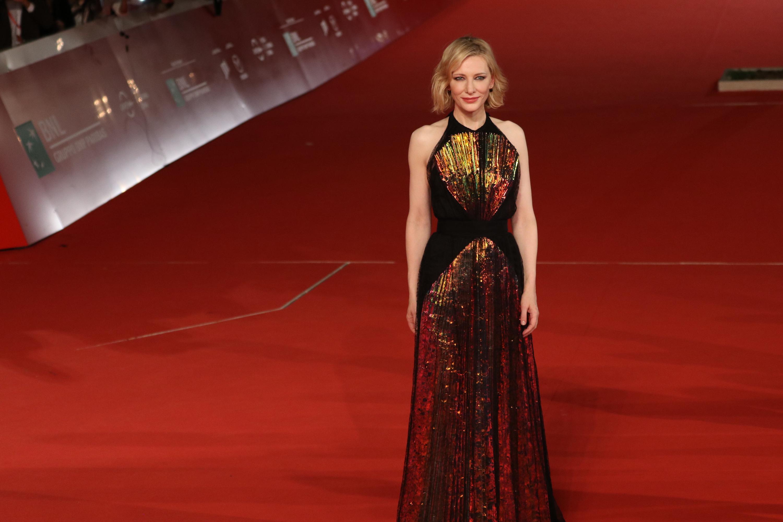 Roma 2018: la meravigliosa Cate Blanchett sul red carpet de Il mistero della casa del tempo