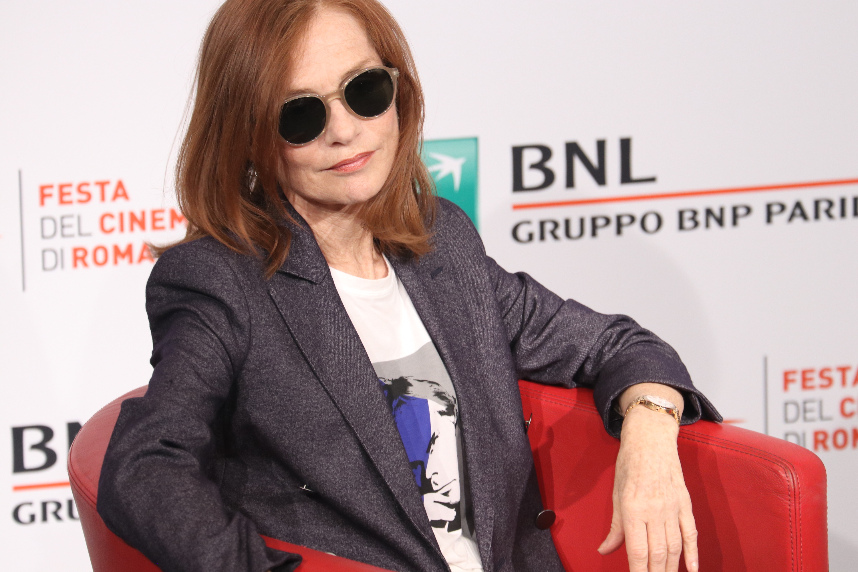 Roma 2018: l'affascinante Isabelle Hupper al photocall