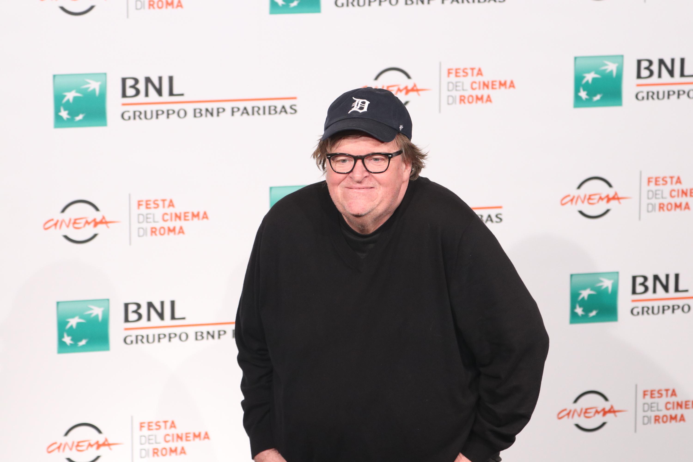 Roma 2018: uno scatto di Michael Moore al photocall