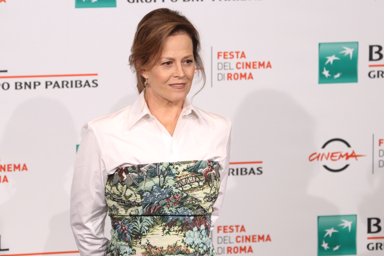 Roma 2018: una foto di Sigourney Weaver al photocall