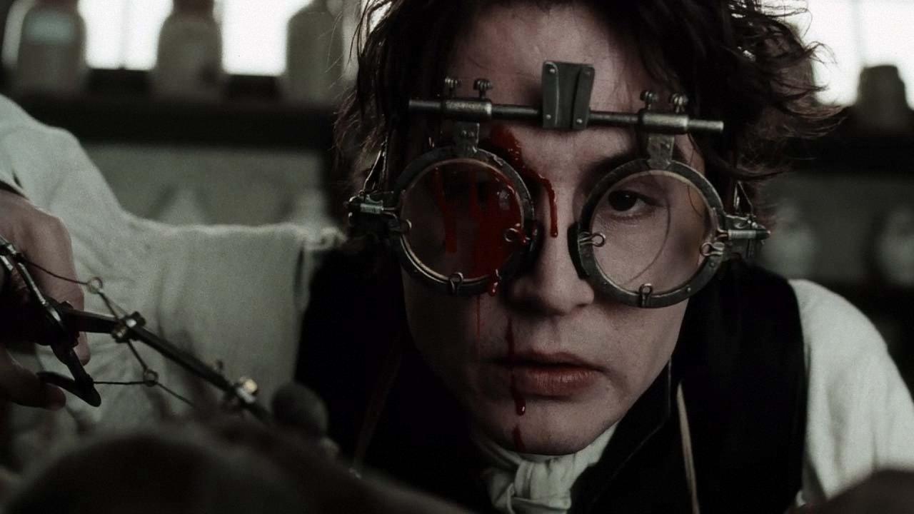 Il mistero di Sleepy Hollow, Johnny Depp in una scena