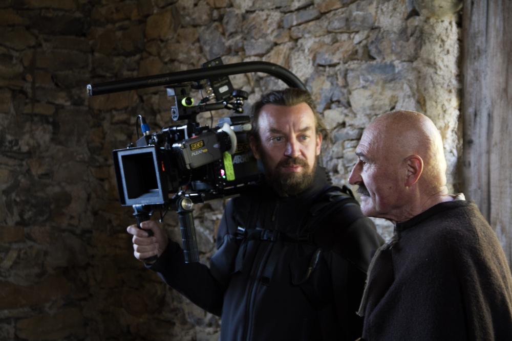 Menocchio: il regista Alberto Fasulo sul set del film
