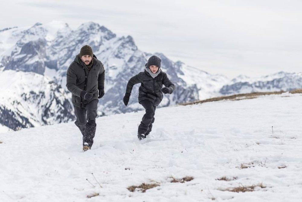 Ötzi e il mistero del tempo: Vinicio Marchioni e Diego Delpiano in una scena del film
