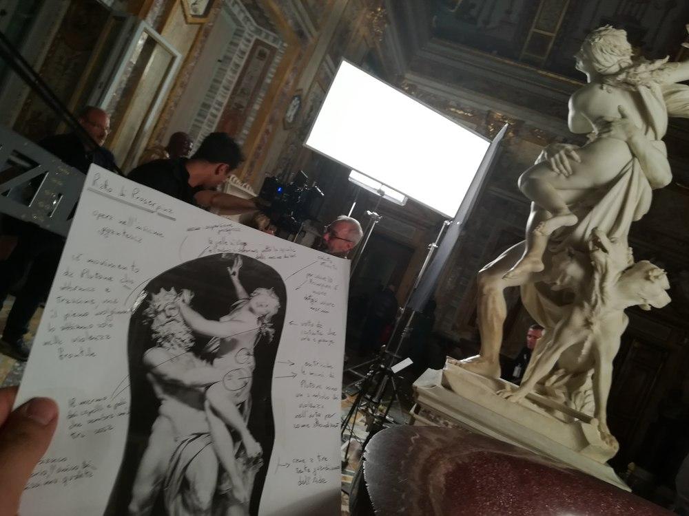 Bernini: un'immagine dal set del documentario