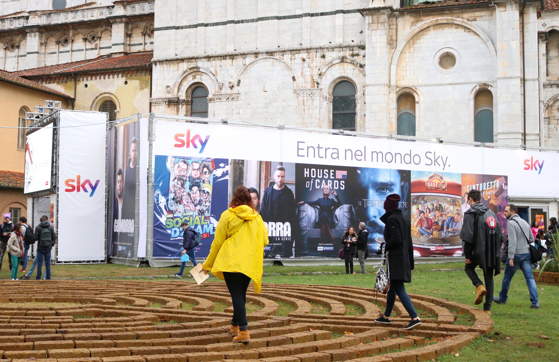 Lucca 2018: il padiglione Sky