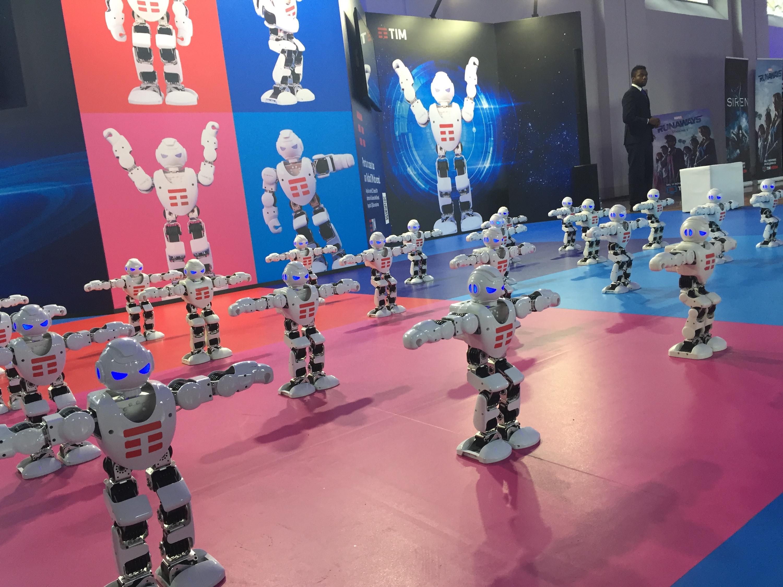 Lucca 2018: robottini al padiglione TIM