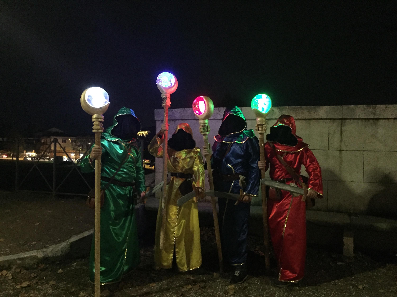 Lucca 2018: cosplayer di notte