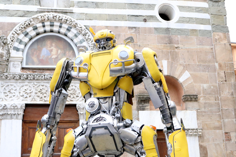 Lucca 2018: la statua di Bumblebee