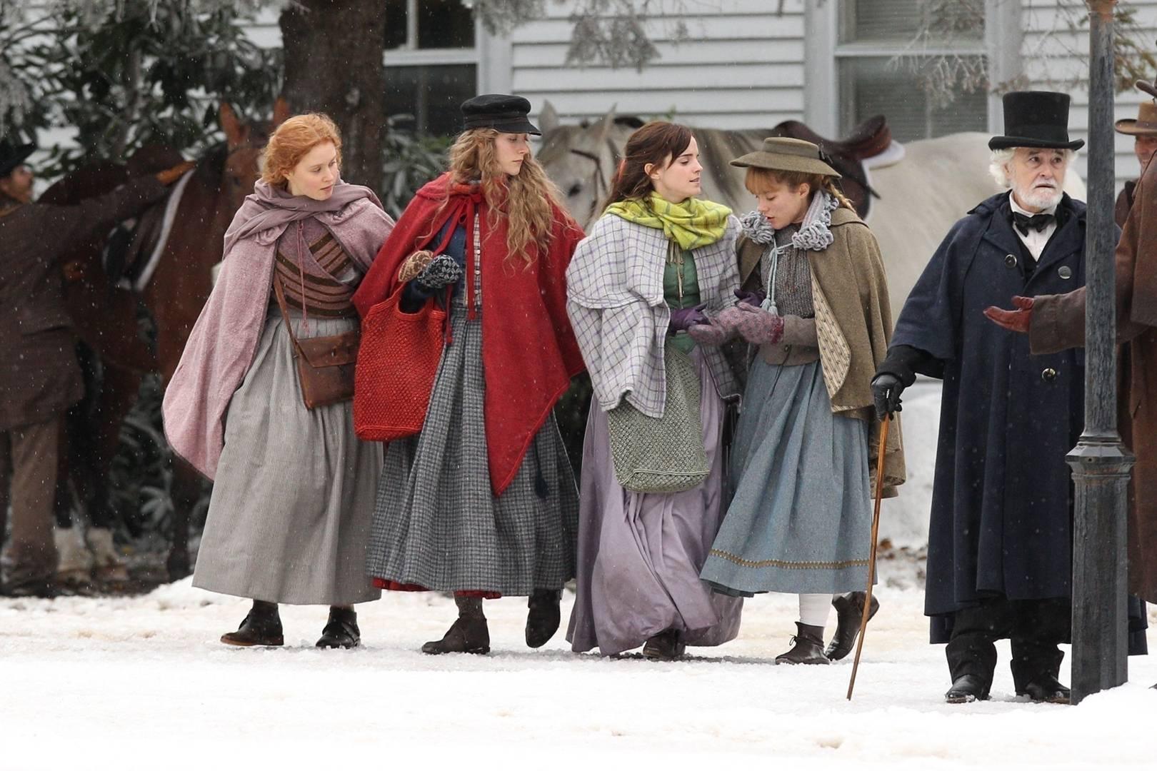 Little Women: il cast in una foto dal set