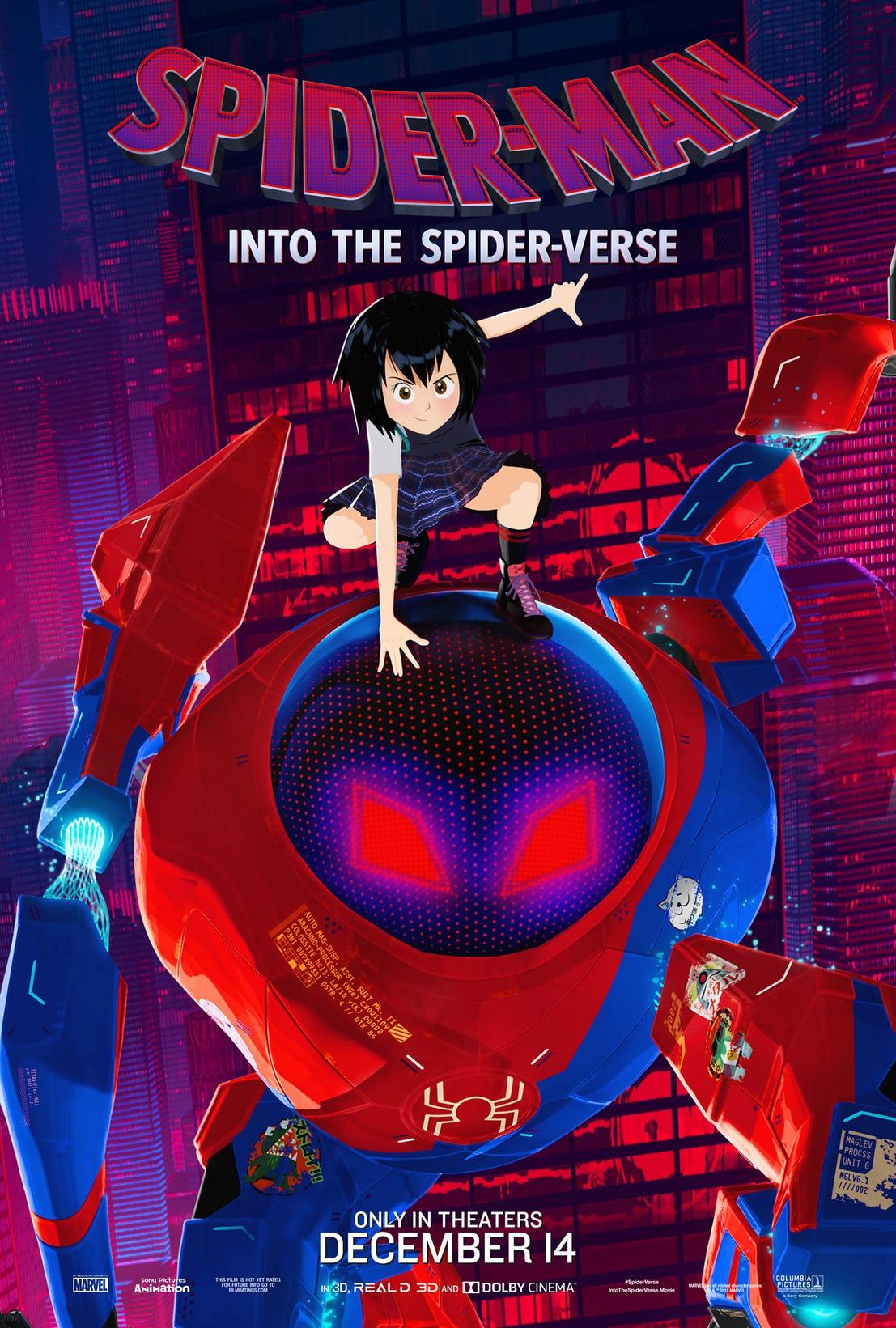 Spider-Man: Un nuovo universo, il character poster di Peni Parker