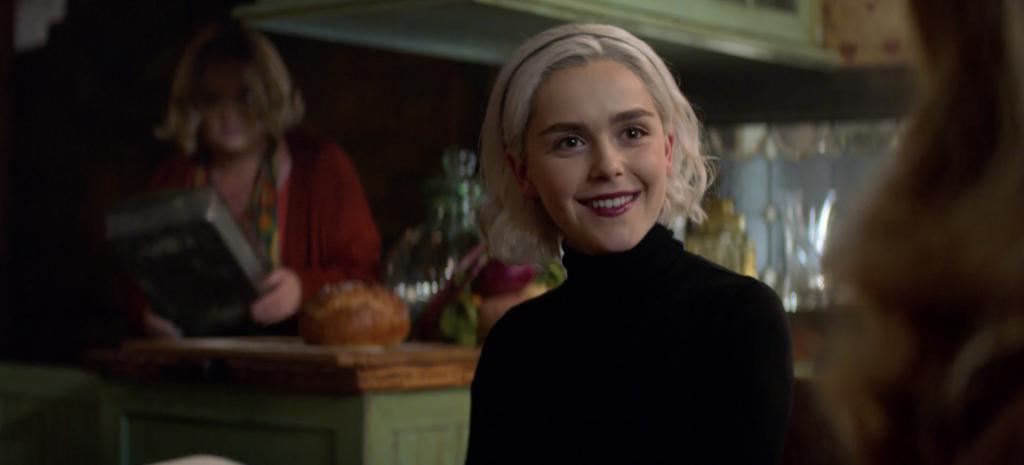 Le terrificanti avventure di Sabrina, A Midwinter's Tale: Kiernan Shipka in una scena