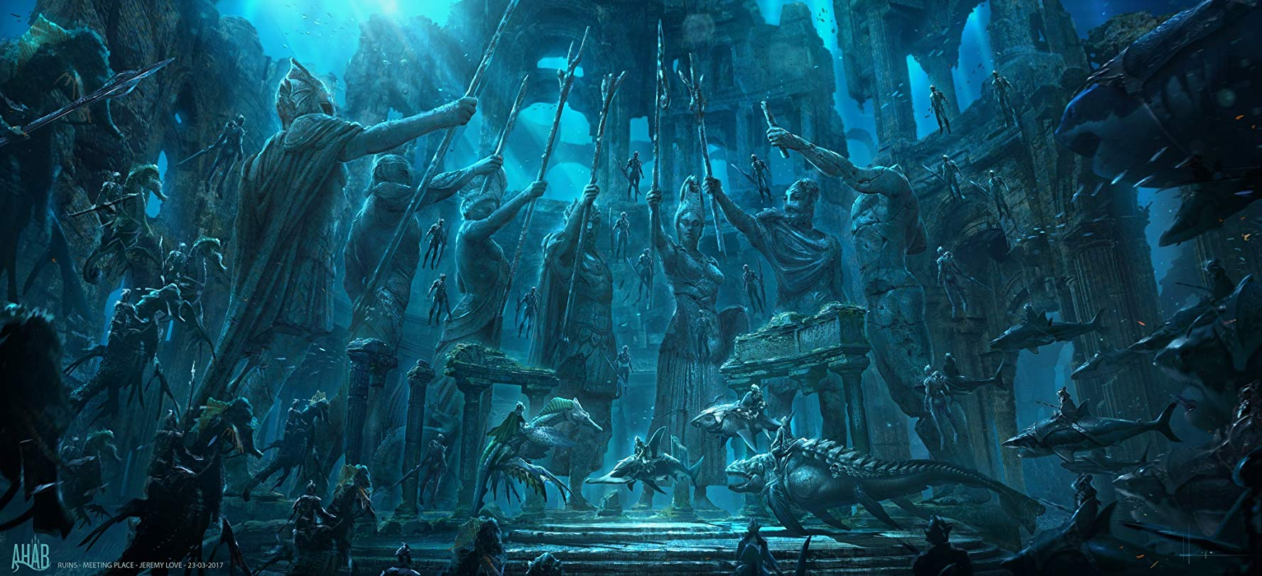 Aquaman: un concept art del film