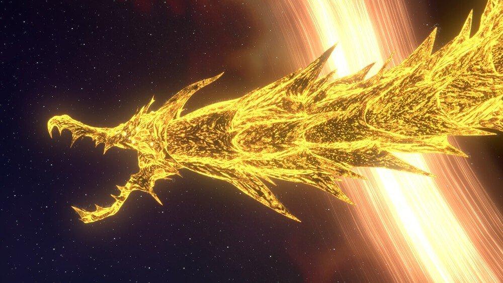 Godzilla Mangiapianeti: una scena con King Ghidorah