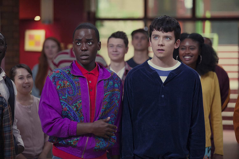Sex Education: Asa Butterfield, Ncuti Gatwa in una scena della serie