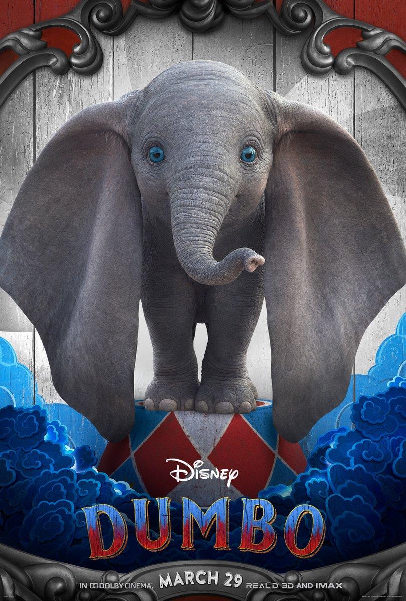 Dumbo: il character poster del simpatico elefantino