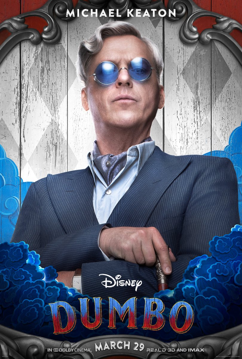 Dumbo: il character poster di Michael Keaton