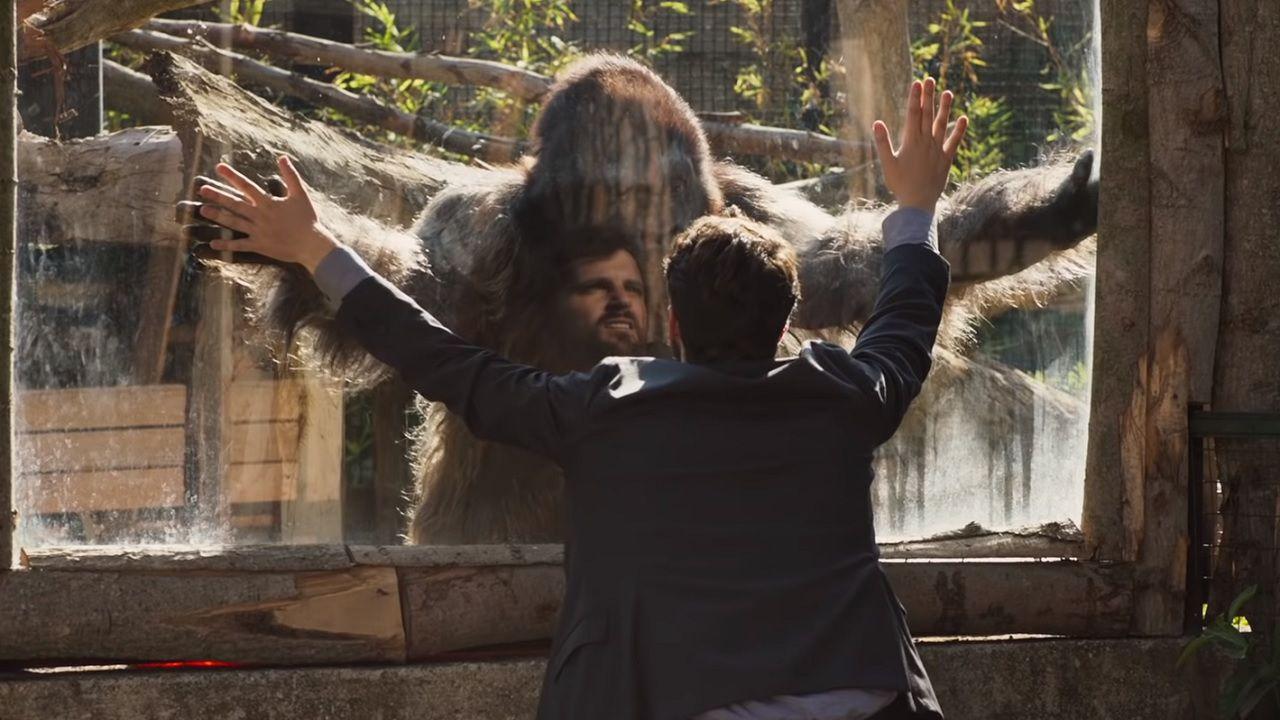 """Attenti al gorilla: Frank Matano incontra il suo """"cliente"""""""