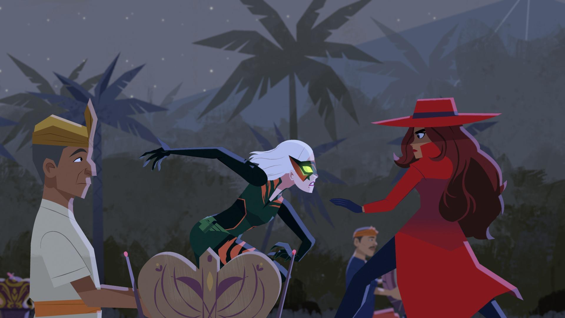 Carmen Sandiego: una scena della serie targata Netflix